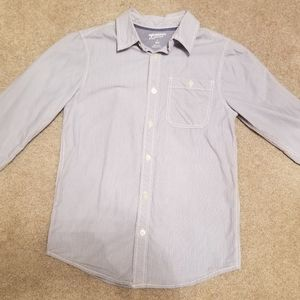 Arizona Boy Pinstripe Button Down Shirt size 8/10